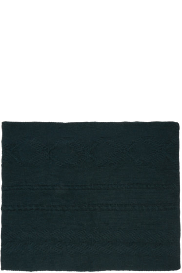 BLK DNM - Green Cable Knit Scarf