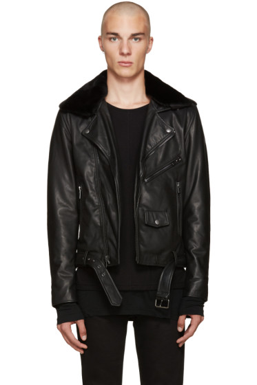 BLK DNM - Black Leather Classic Biker 5 Jacket