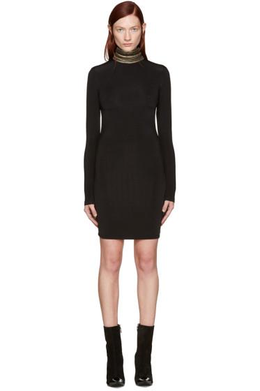 Pierre Balmain - Black Chain Embellished Turtleneck Dress