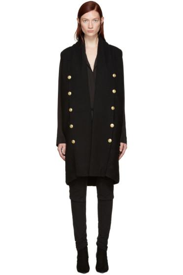 Pierre Balmain - Black Gold Buttons Knit Vest