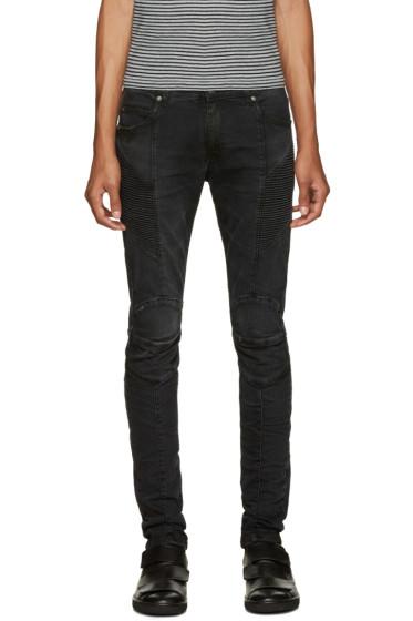 Pierre Balmain - Black Biker Jeans