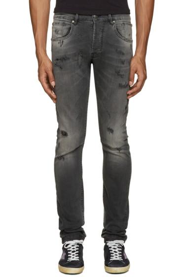 Pierre Balmain - Grey Ripped Jeans