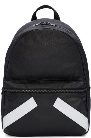 Neil Barrett - Black Retro Modernist Backpack