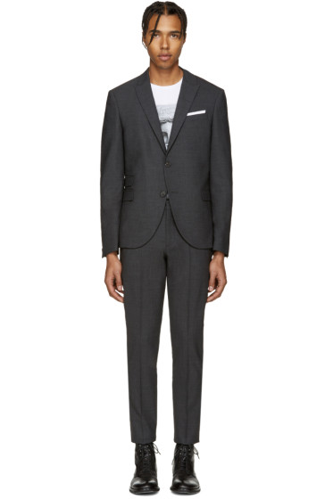 Neil Barrett - Grey Classic Skinny Suit