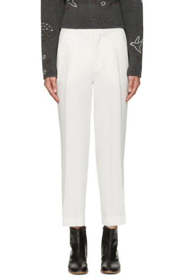See by Chloé - Off-White Crepe Trousers