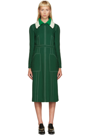 Burberry - Green Topstitch Dress