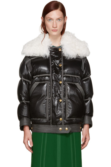 Burberry - Black Down Shearling Coat