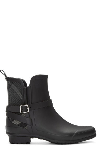 Burberry - Black Riddlestone Rain Boots