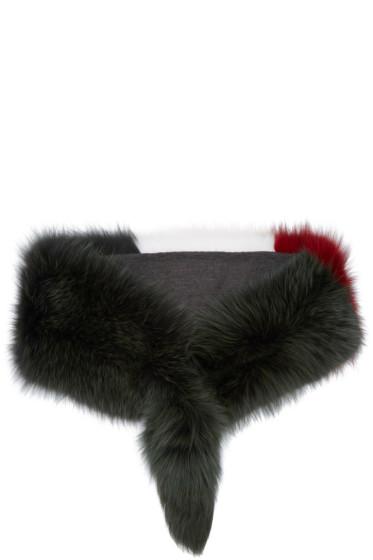 Marni - Tricolor Fur Scarf