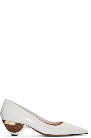 Marni - White Sculptural Heels