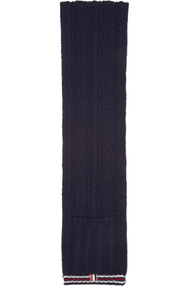 Thom Browne - Navy Funmix Pocket Scarf