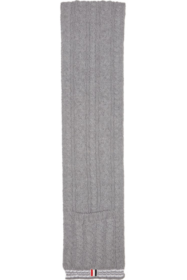Thom Browne - Grey Funmix Pocket Scarf