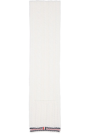 Thom Browne - White Funmix Pocket Scarf