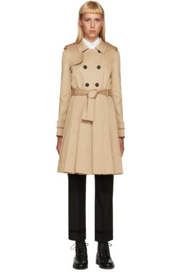 Thom Browne - Khaki Pleated Trench Coat
