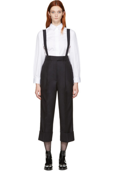 Thom Browne - Navy Single-Pleat Suspender Trousers