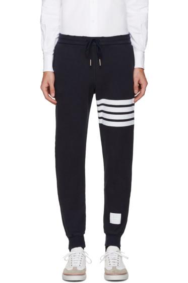 Thom Browne - Navy Cropped Lounge Pants