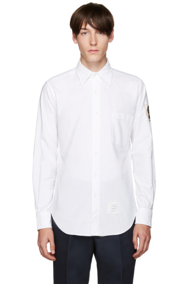 Thom Browne - White Hector Crest Shirt