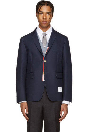 Thom Browne - Navy Unconstructed Classic Blazer