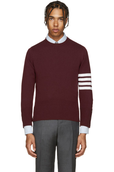 Thom Browne - Burgundy Cashmere Pullover