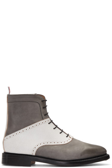 Thom Browne - Grey Saddle Boots