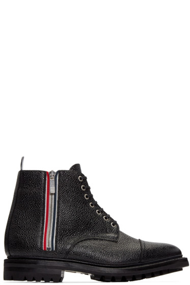 Thom Browne - Black Side Zip Boots