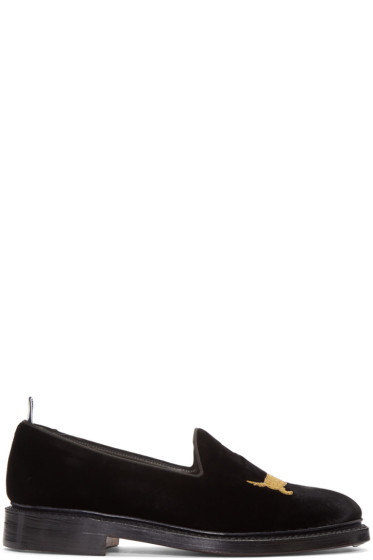 Thom Browne - Black Velvet Hector Loafers