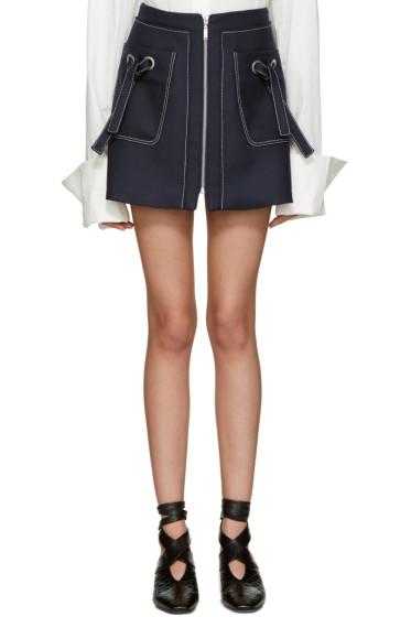 Kenzo - Navy Twill Miniskirt