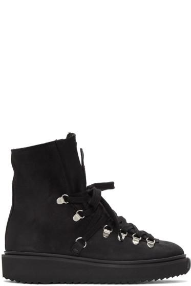 Kenzo - Black Nubuck Ankle Boots