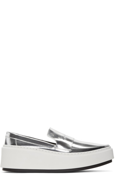 Kenzo - Silver Platform Loafers