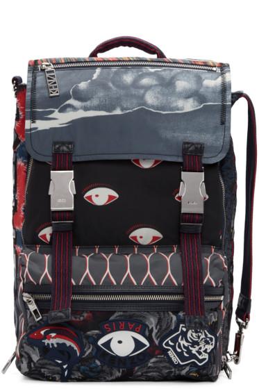 Kenzo - Multicolor Eyes Backpack