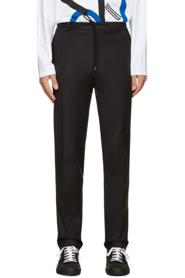 Kenzo - Black Slim Drawstring Trousers