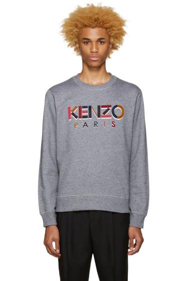 Kenzo - Grey Logo Pullover