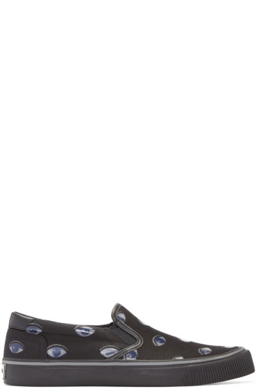 Kenzo - Black Eyes Slip-On Sneakers