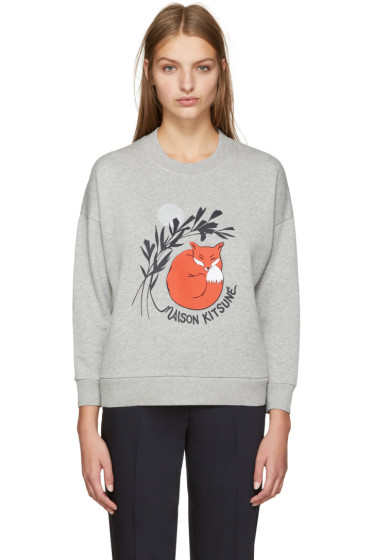 Maison Kitsuné - Grey Dan-Ah Kim Edition Asleep Sweatshirt