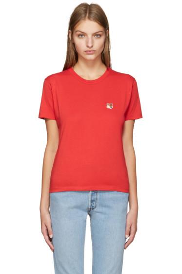 Maison Kitsuné - Red Fox Head T-Shirt