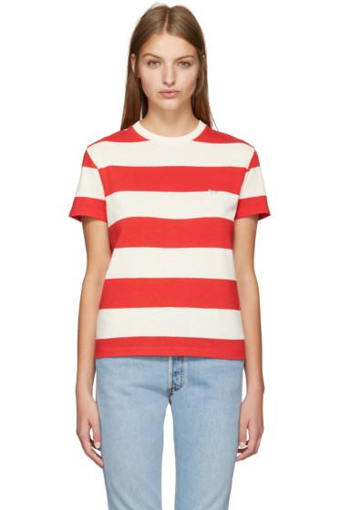 Maison Kitsuné - Red Small Logo T-Shirt