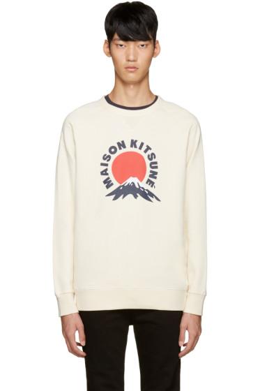 Maison Kitsuné - Off-White Mount Fuji Sweatshirt
