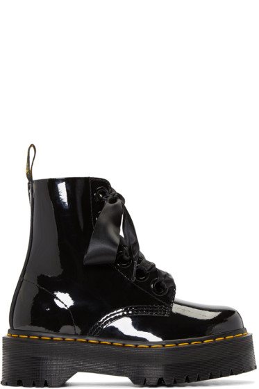 Dr. Martens - Black Six-Eye Molly Lolita Boots