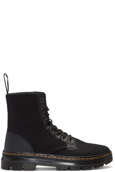 Dr. Martens - Black Canvas Combs Boots