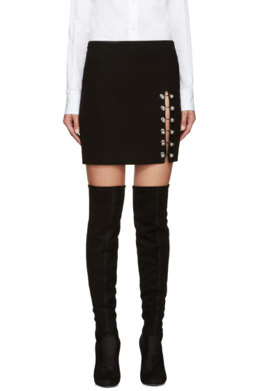 Versus - Black Multiple Pin Miniskirt