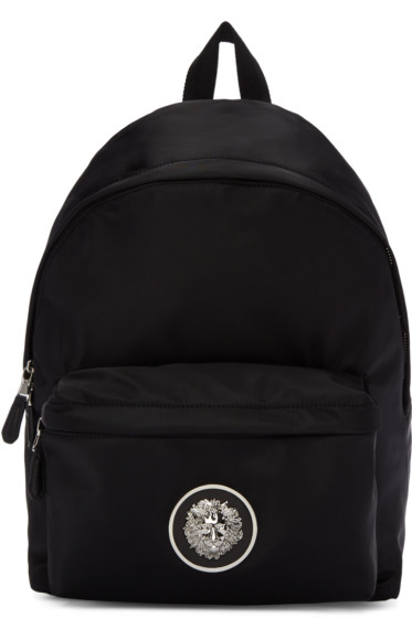 Versus - Black Nylon Medusa Backpack