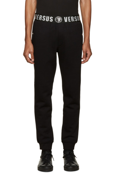 Versus - Black Logo Waistband Lounge Pants