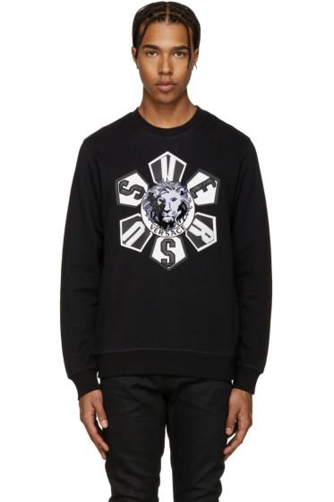 Versus - Black Embroidered Logo Sweatshirt