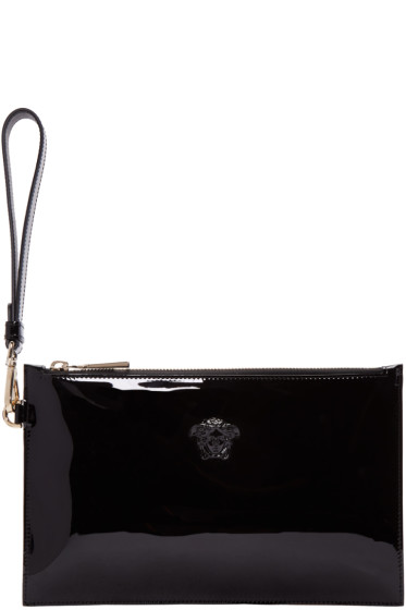 Versace - Black Patent Small Medusa Pouch