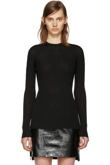 Versace - Black Wool Ribbed Sweater
