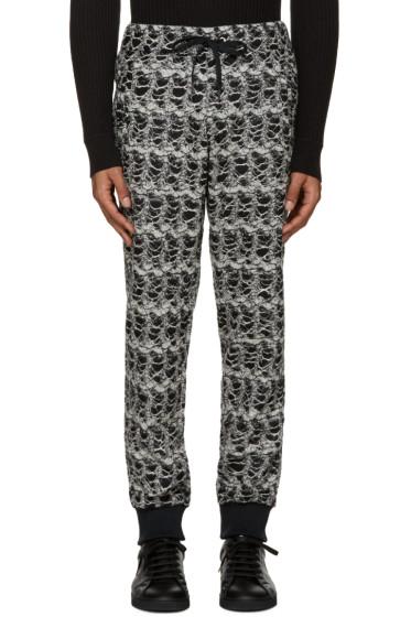 Versace - Black & White Textured Lounge Pants
