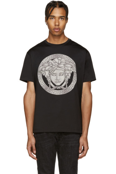 Versace - Black  & Grey Medusa T-Shirt