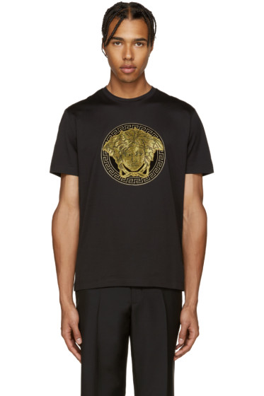 Versace - Black & Gold Medusa T-Shirt