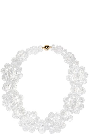 Simone Rocha - Transparent Floral Beaded Choker