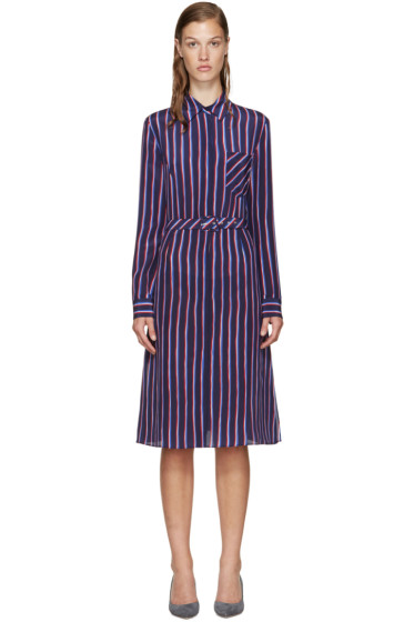 Altuzarra - Navy Striped Marian Dress